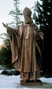 religious figures, religious statues, st. John paul 2