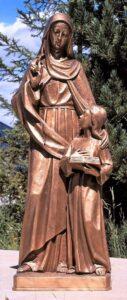 religious figures, religious statues, st. anne