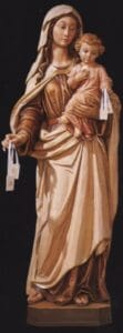 religious figures, religious statues, Our Lady of Mt. Carmel